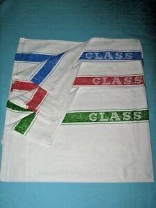 Large Professional Cotton Glass Cloths Tea Towels x 4  FREE P&P BARGAIN