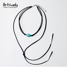 Woman Retro Multiple Layers Long Necklace Jewelry Pendant Gem Popular Necklaces