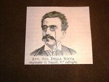 L'Avvocato Giovanni Della Rocca nel 1877 Deputato di Napoli