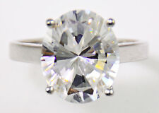 2.5 ct Oval Ring Vintage Brilliant Top Russian CZ  Moissanite Simulant Size 6
