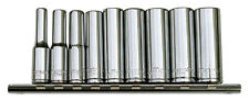 METRINCH 1/4'' Zoll Steckschlüsselsatz 5 - 13mm 9 tlg lang Cliprail MET-0230
