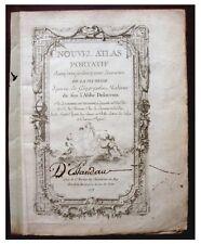 1778 ROBERT DE VAUGONDY - ATLAS - Original Title Page