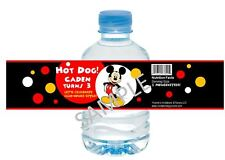 Mickey Mouse Water Bottle Wrappers - Birthday Party Favors - Set of 12