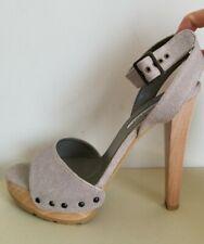 Stella McCartney Platform Studded Wooden Heel Clogs Sandals EU 36.5 I LOVE SHOES