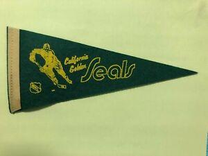 1969 NHL CALIFORNIA GOLDEN SEALS MINI PENNANT TERRIFIC CONDITION