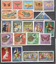 R9931 - MONGOLIA 1974 - LOTTO 21 TEMATICI DIFFERENTI DEL PERIODO - VEDI FOTO