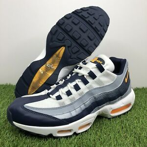 Nike Air Max 95 SE Sneaker Navy/Grey/WhiteOrange AJ2018-401 Men's Size 12.5