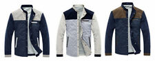 Button Cotton Blend Funnel Neck Coats & Jackets for Men