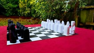 NEW Special Chess: Isle of Lewis Set (Black and White) with optional BOARD