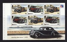 1999 Jersey, Vintage Cars, NH Mint Booklet Pane, SG 909a