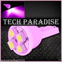 4x Ampoule T10 / W5W / W3W LED 4 SMD 3528 Rose Pink veilleuse lampe light 12V