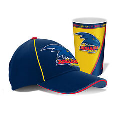 Adelaide Port Power AFL Hat Cap & Tumbler Drinking Cup Birthday Fathers Day Gift