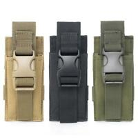 Waterproof Tactical Molle Pouch Backpack Shoulder Strap Bag Key Flashlight Pouch