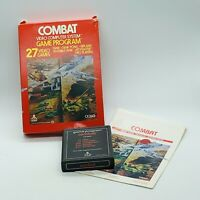 Atari 2600 Combat Video Game Cartridge With Box Instructions 1977 Tank Fighting