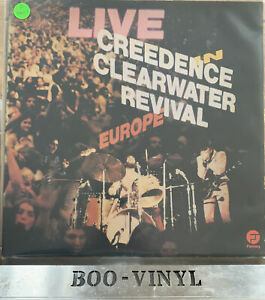 Creedence Clearwater Revival Live In Europe LP Vinyl FT520 A1/B1 VG+ / VG+