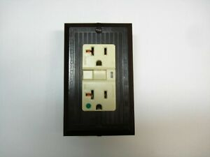 Vintage Uniline Brown Decora GFCI Switch Outlet Wall Cover Plate Ribbed GEM