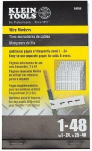Wire Marker Numbers Book Panel Labels Adhesive Label Cable Markers Sheet Tags