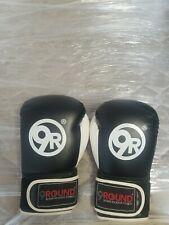 9Round Black Kickboxing Boxing Gloves Adjustable Wrist Lock Gym Workout