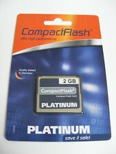 2 GB Compact Flash Karte ( 2GB CF Card ) PLATINUM Neu