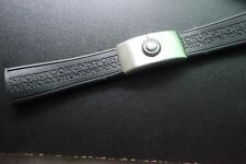 23.5mm silicone  Rubber black strap Watch band for Corum Bubble series