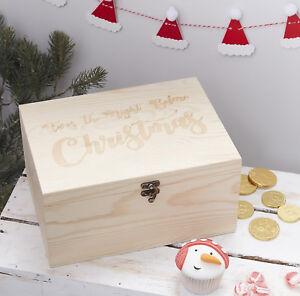 CHRISTMAS EVE BOX - Wooden Keepsake Box - Children's Christmas Eve Box