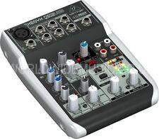 Behringer XENYX Q502USB 5 entrada 2-Bus Mezclador XENYX Preamplificador De Micrófono, Ecualizador, Compresor