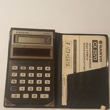 Sanyo CX 2570 Amorphous Solar System Calculator with Case