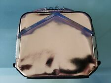 ALEXANDER WANG Rose Gold Patent Leather Zip Top Square Clutch Bag