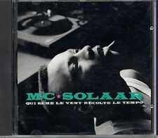 RARE MC SOLAAR ( QUI SEME LE VENT RECOLTE LE TEMPO) CD ALBUM 16 TITRES 1991
