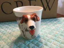 New listing Hand Painted Porcelain Jack Russell Terrier Figural 3-D Mug Coffee Cup Thailand