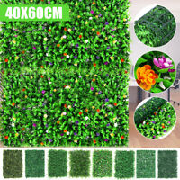 Artificial Hedge Mat Grass Foliage Plant Wall Fence Greenery Panel Decor