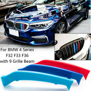 M-Color Grille Insert Trim Strips for BMW F32 F33 F36 4 Series M-Sport 2014-2018