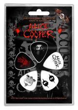 OFFICIAL LICENSED - ALICE COOPER - EYES 5 GUITAR PLECTRUM/PICKS PACK ROCK GOTH