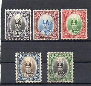 Malaya Kedah 1937 values to $1 good to fine used. Cat £34.25