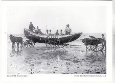 """+PC-Postcard-""""Surfboat Nantasket"""" at *Hull & Nantasket Beach MA (#208)"""
