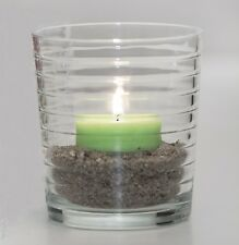 """SANDRA RICH Teelichtglas """"cylinder lines H8,6/7,6cm clear glass"""" 114-1 (6 Stück)"""