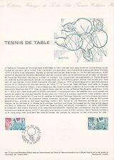 Document philatélique 48-77 1er jour 1977 Fédération Tennis de Table
