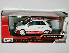 Motor Max - FIAT ABARTH 500 R3T (White) - Model Scale 1:24