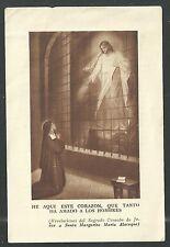 image pieuse ancianne de Santa Maria Alacoque santino holy card estampa