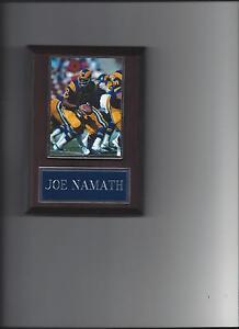 JOE NAMATH PLAQUE FOOTBALL LOS ANGELES RAMS NFL