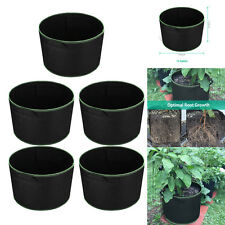 New listing 5 Pack 15 Gallon Plant Grow Bags Fabric Pots for Hydroponic Plant Growing