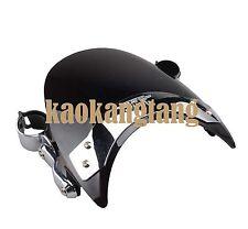 Black Windscreen Windshield For Kawasaki VN1500A VN900C VN800A   Vulcan