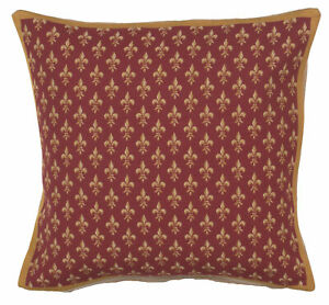 Petit Lys Rouge French Tapestry Decorative Cushion Pillow Cover Home Decor Art