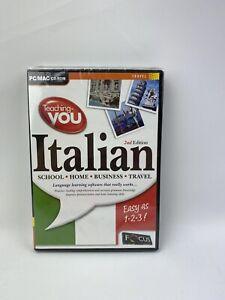 Teaching-you Italian (2 x CD ROM for PC/MAC) F & F POSTAGE