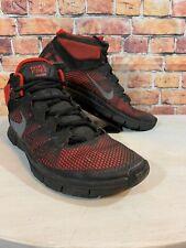 NIKE FREE Training Gym Workout Shoe Men's Sz 11.5 Sneakers Black Red 615994-600