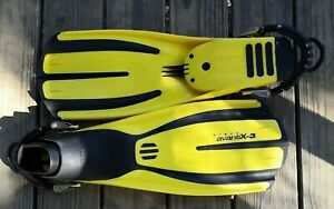 Mares Plana AvantiX-3 Fins Flippers Spring Straps Stainless X Small Yellow XS