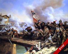 FRENCH REVOLUTION ARCOLE BRIDGE PARIS PAINTING HISTORY WAR ART REAL CANVAS PRINT