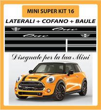 MINI ONE, COOPER, COOPER S - ADESIVI SUPER KIT 16 COFANO + LATERALI + BAULE