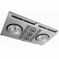 MARTEC Profile Plus LED Bathroom Heater with Exhaust Fan - Silver