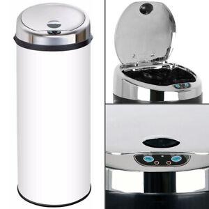 Inmotion White Stainless Steel Auto Sensor Kitchen Waste Dust Bin 30L, 42L, 50L